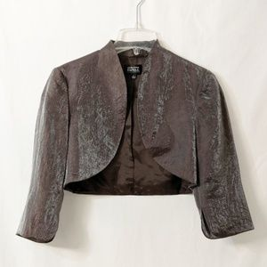 Adrianna Papell Slight Metallic Shrug Sz 6